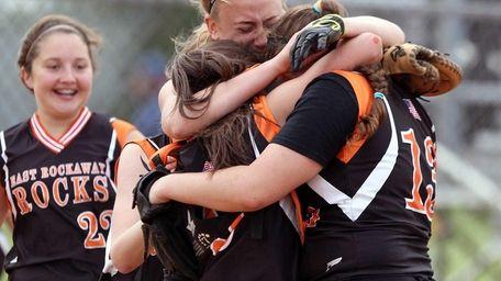 East Rockaway celebrates its win over Locust Valley.