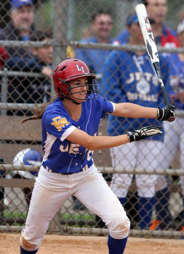 East Meadow's Danielle Cutuli drives in an RBI