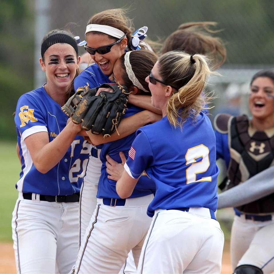 East Meadow celebrates its win over MacArthur. (May