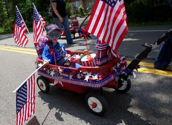 Kids - and wagons - decked out in