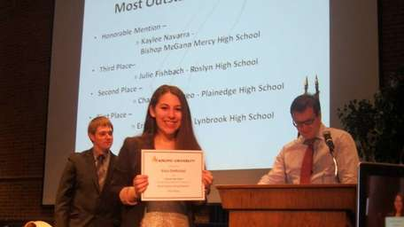 Lynbrook High's Horizon editor-in-chief Erica DeMichiel was named