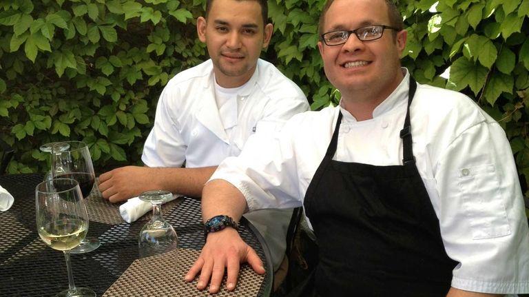 Walter Ochoa, chef de cuisine, left, and Christopher