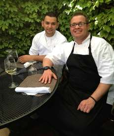 Walter Ochoa, chef de cuisine, left, and Christopher