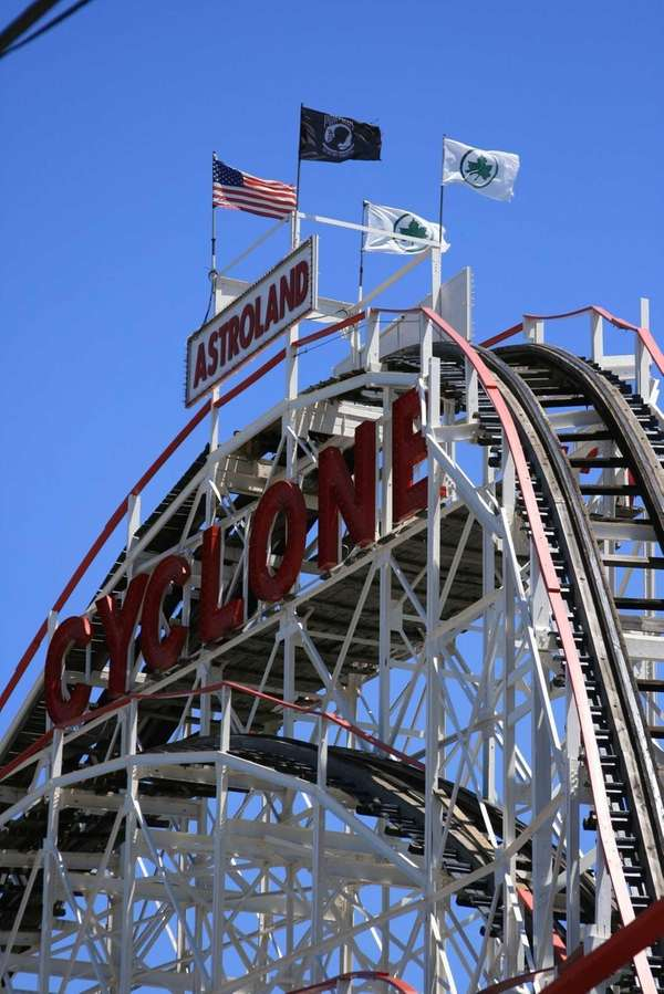 """The Cyclone at Coney Island,"" a photograph by"