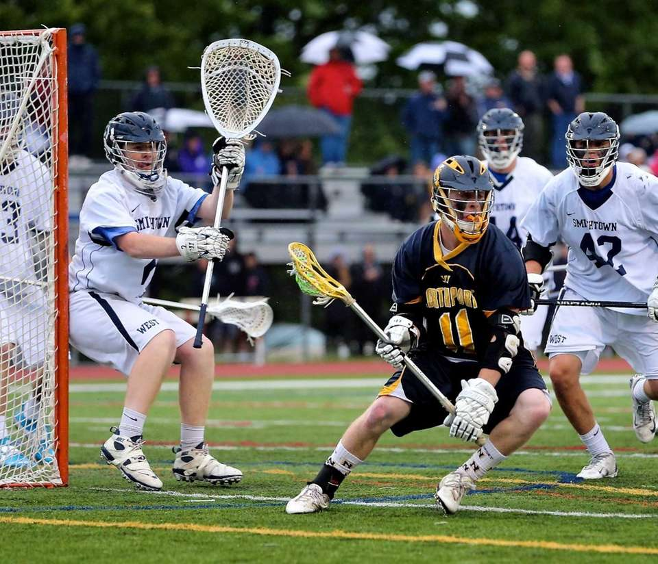 Northport's John Trainor cuts back as Smithtown West