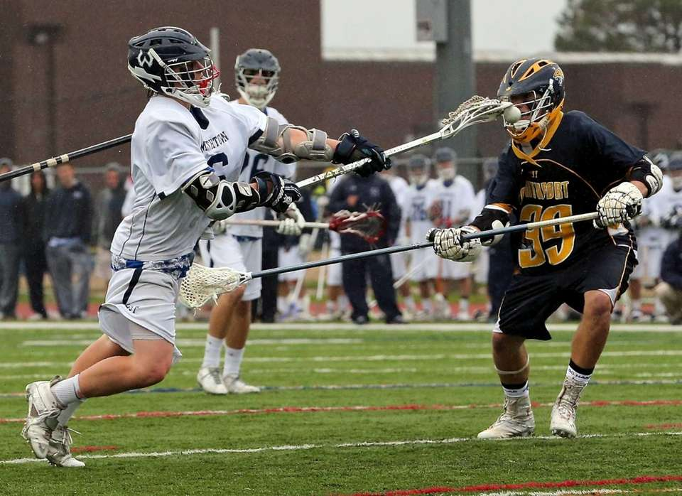 Smithtown West's Ryan Keenan shoots and scores past