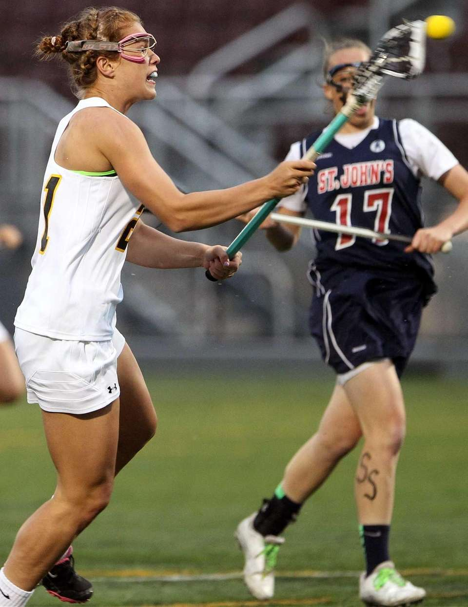 St. Anthony's Kasey Behr fires on goal during