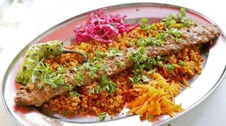 Turkuaz Grill's beyti kebab, ground lamb flavored with