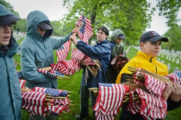 Boy Scouts from Troop No. 656 of Wantagh