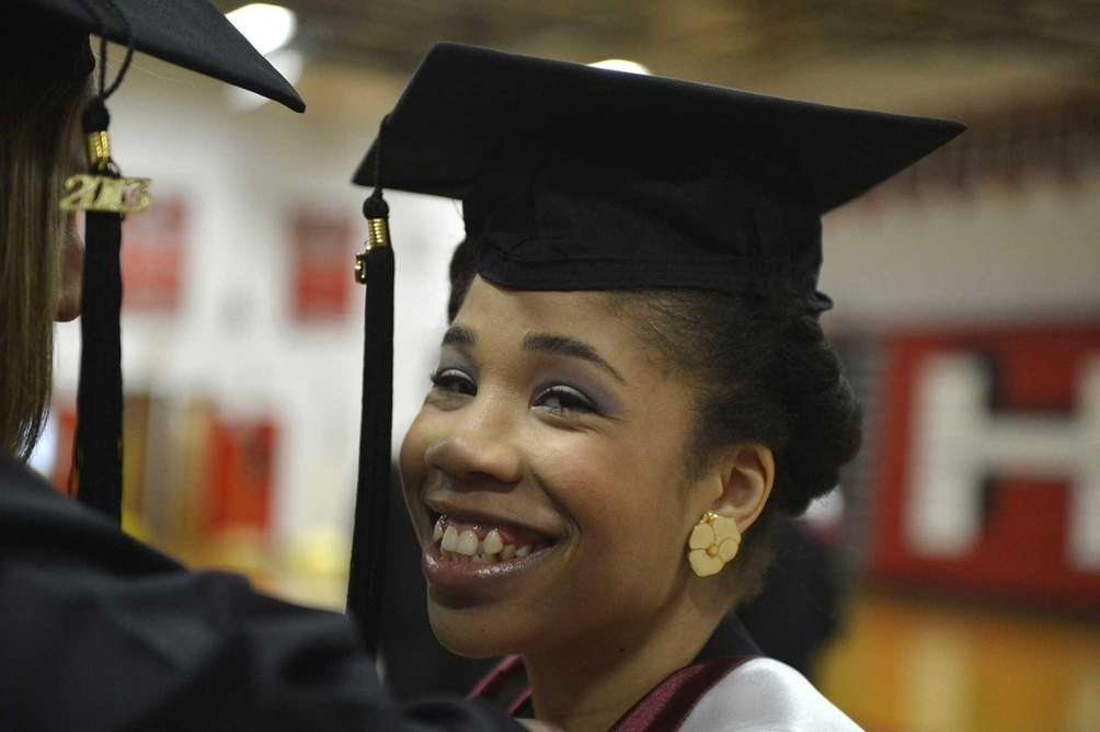 Shawndesha Johnson, 22, of NYC, before graduating from