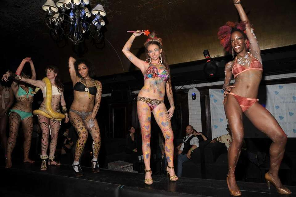 Dancers performing at the Lu Berry Wild Animal