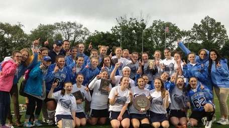 The Our Lady of Mercy girls lacrosse team