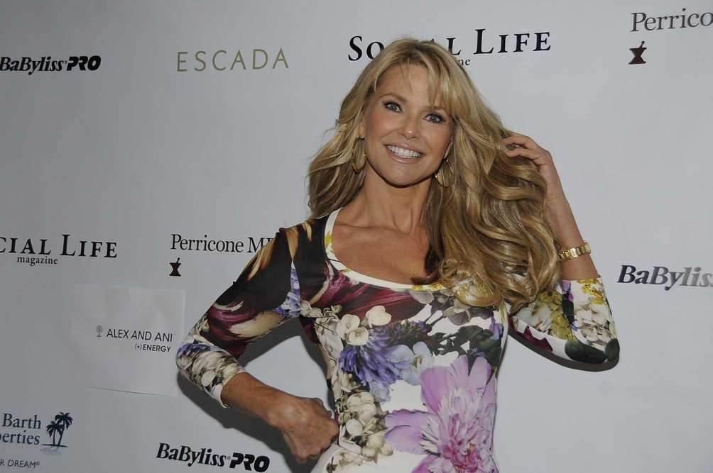 Christie Brinkley arrives at the Social Life Magazine