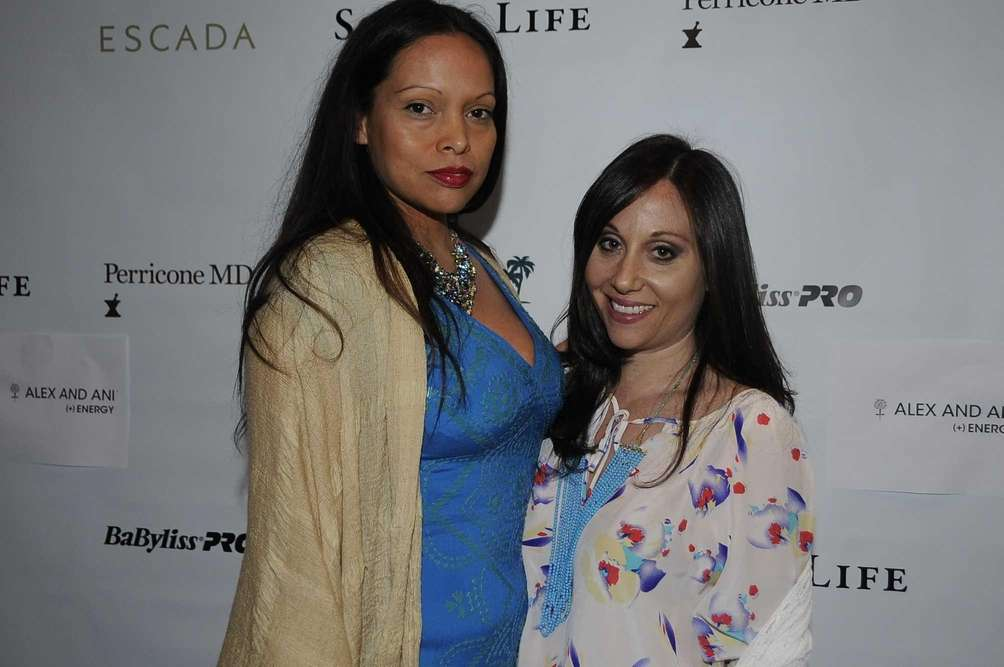 Social Life Magazine staffers Rolise Rachel, left, and
