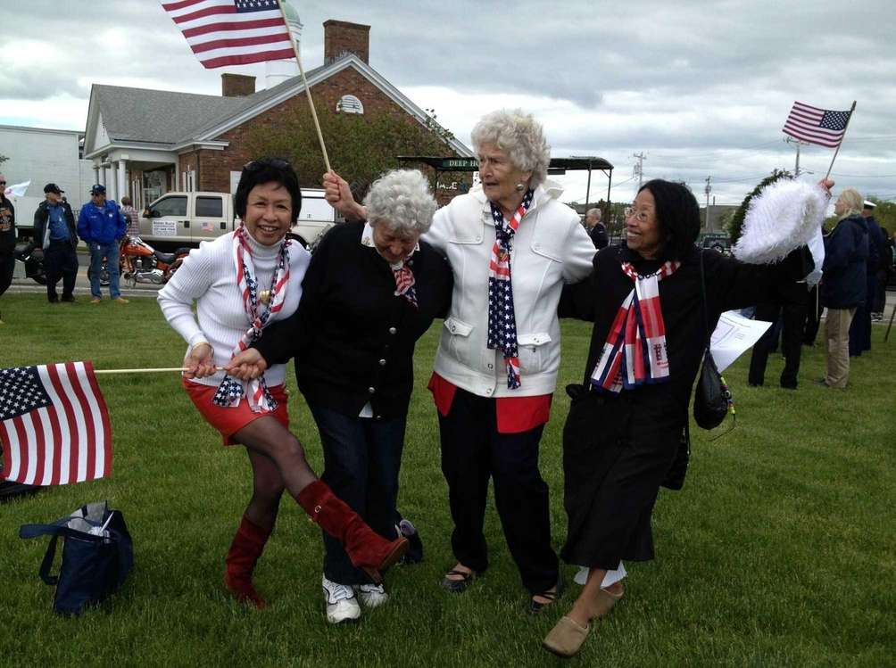 Montauk residents Patricia Pacis, Virginia Barry, Evelyn Walles