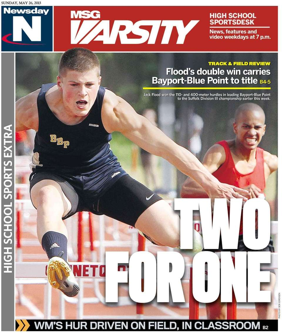 Newsday's high school sports section featured hurdler Jack