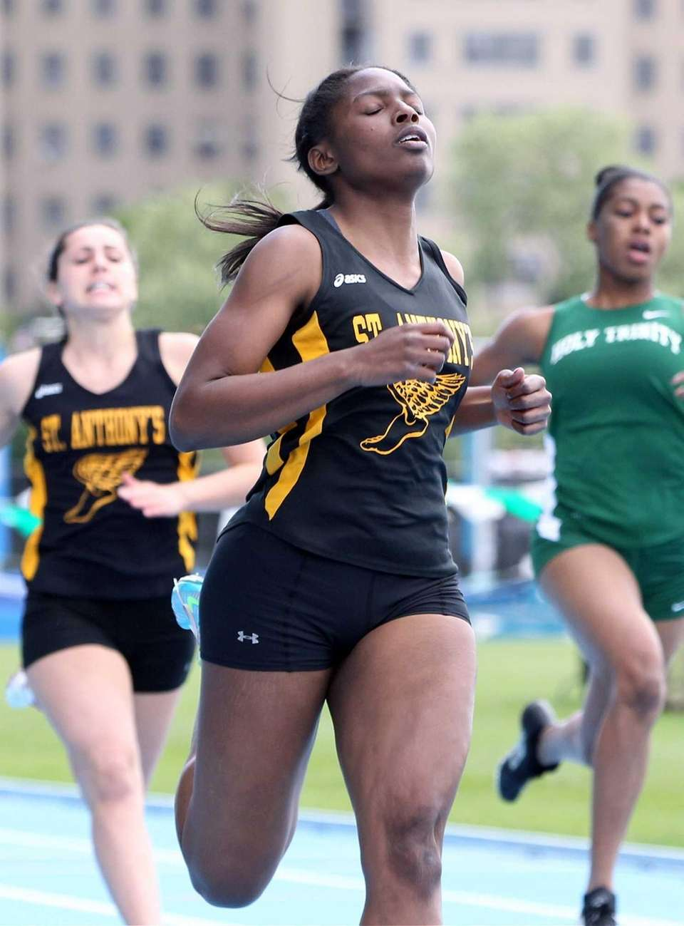 St. Anthony's Melissa June wins the 100m at