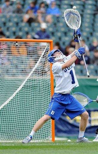 Duke's Kyle Turri makes a save during the