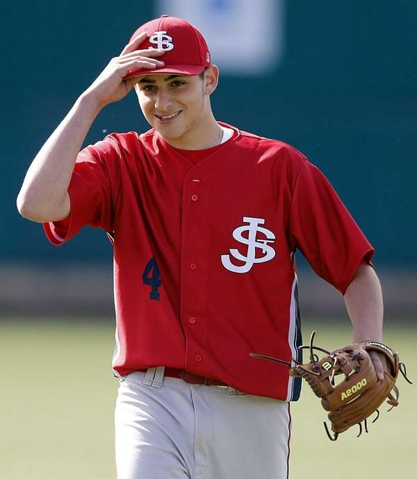 St. John the Baptist pitcher Frank DeMaio tips