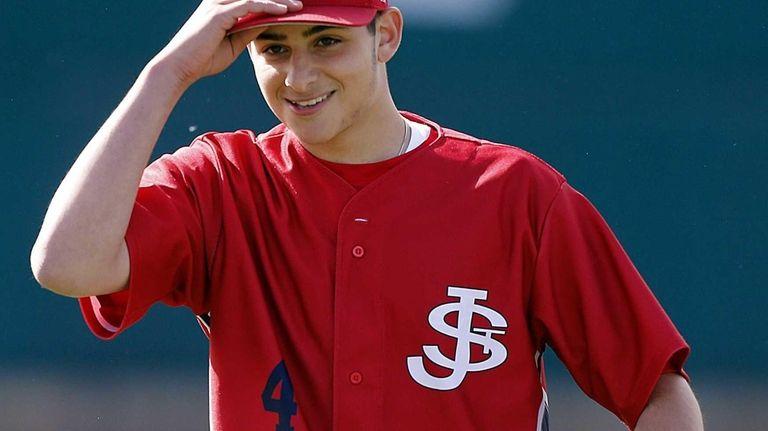 St. John the Baptist pitcher Frank DeMaio tips
