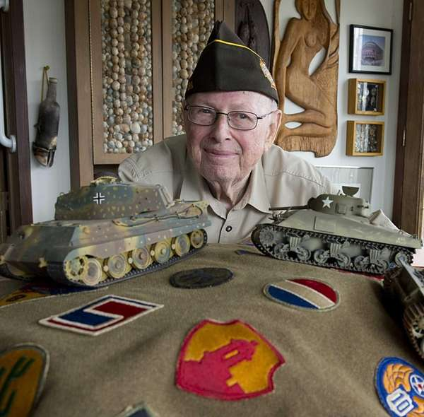 WW II Vet Eli Gordon at his Atlantic