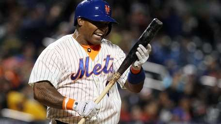 Marlon Byrd reacts after striking out in the