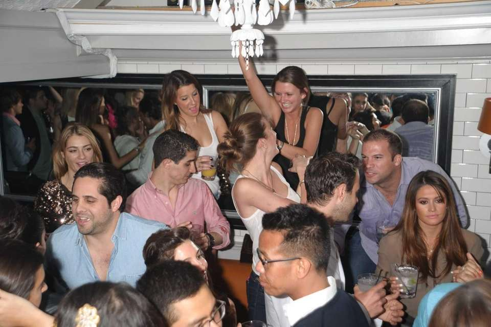 Guests enjoy the scene at the Pink Elephant
