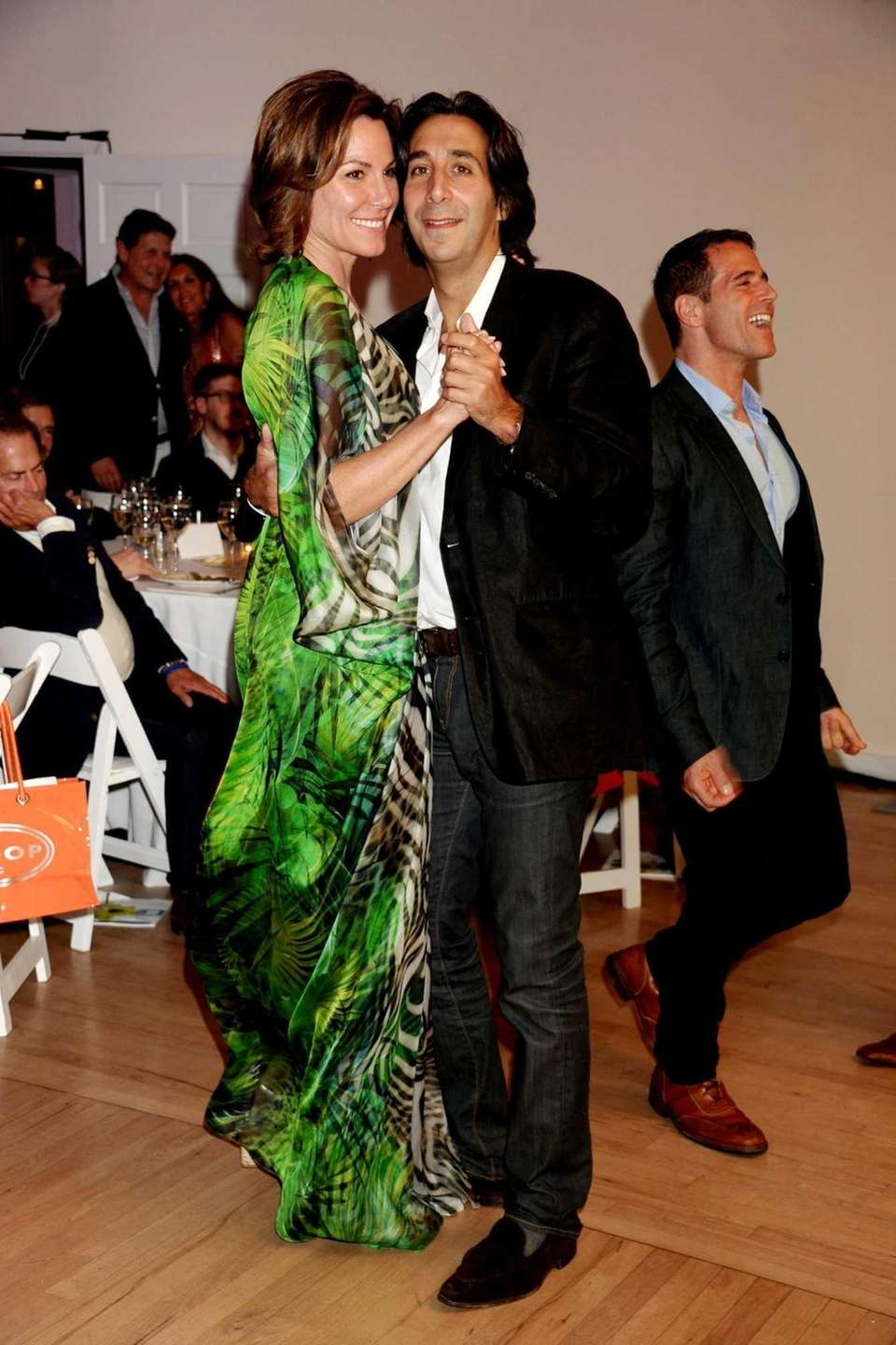 Countess Luann de Lesseps dances with her boyfriend,