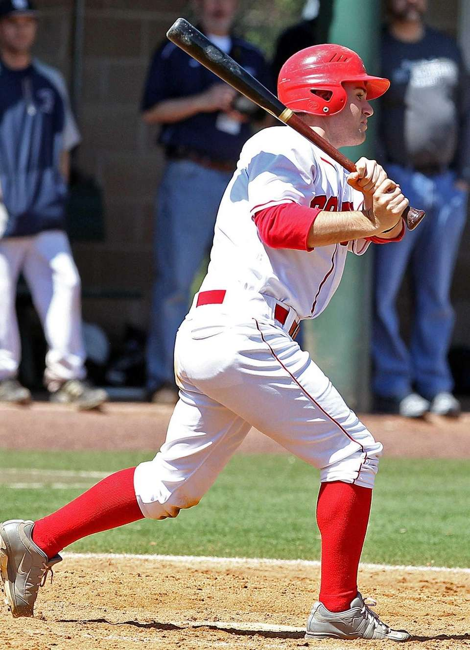 St. John the Baptist's Christopher Lemorocco drives in