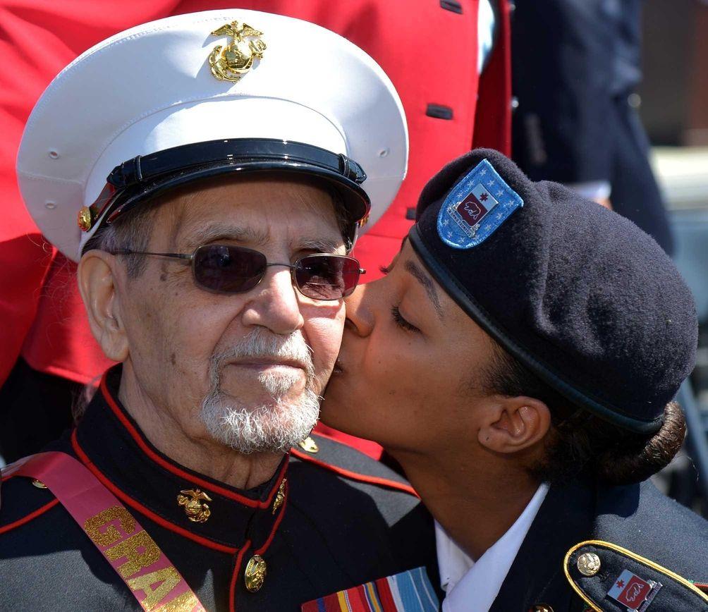 Robert Harding, 84, an original Montford Point Marine,