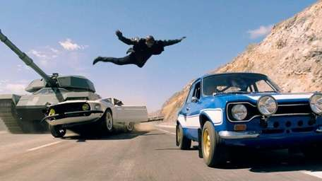 Tyrese Gibson makes a death-defying leap in