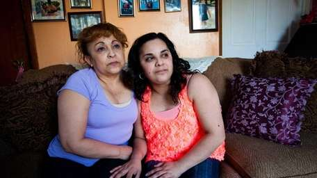 Sonia M. Pena, age 45, left, and her