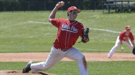 Miller Place's Cody McPartland delivers the final strike