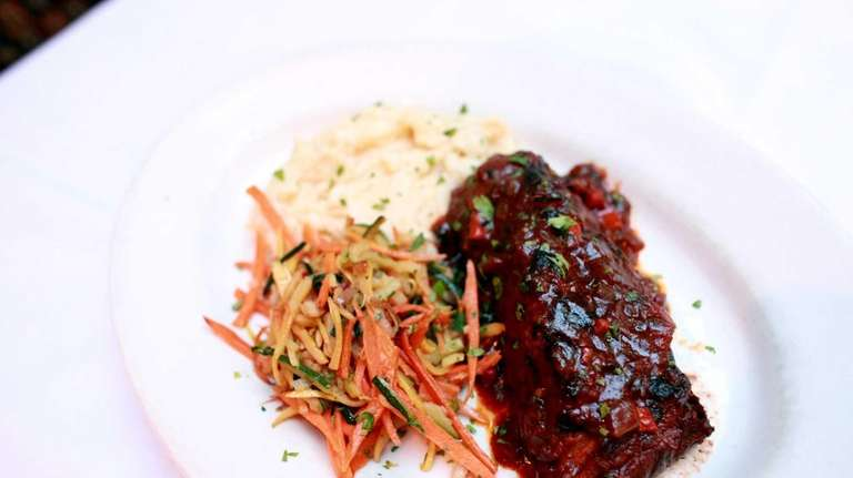 Braised beef short ribs at Crave Restaurant and
