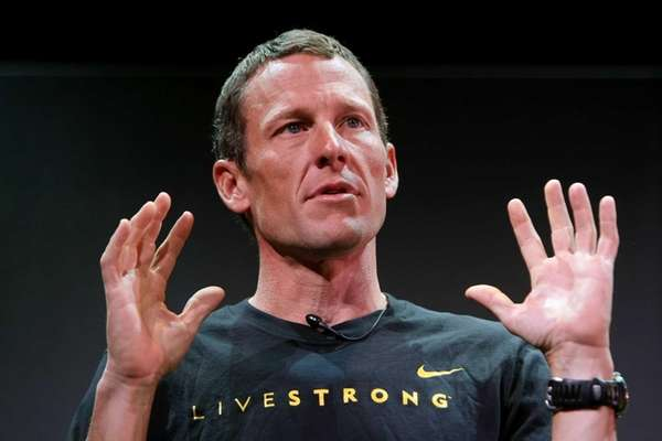 Seven time Tour de France winner Lance Armstrong.