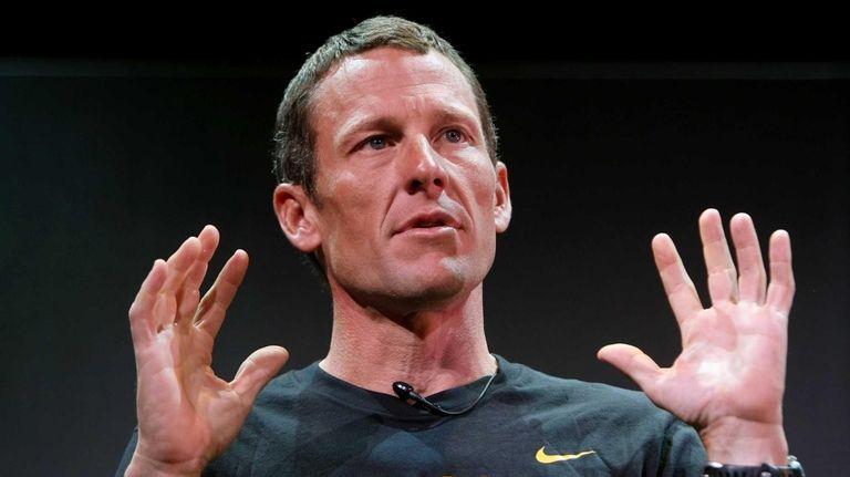 Seven time Tour de France winner Lance Armstrong.