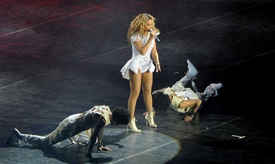 Singer Beyonce performs at the National Stadium in