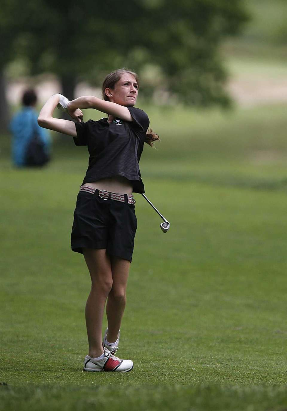 Garden City's Isabel Klatt tees off at the