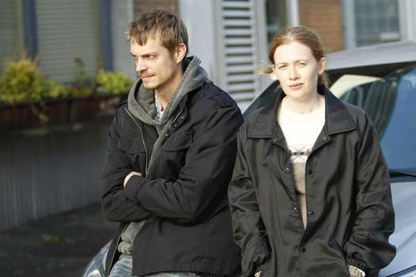 Joel Kinnaman as Detective Stephen Holder and Mireille