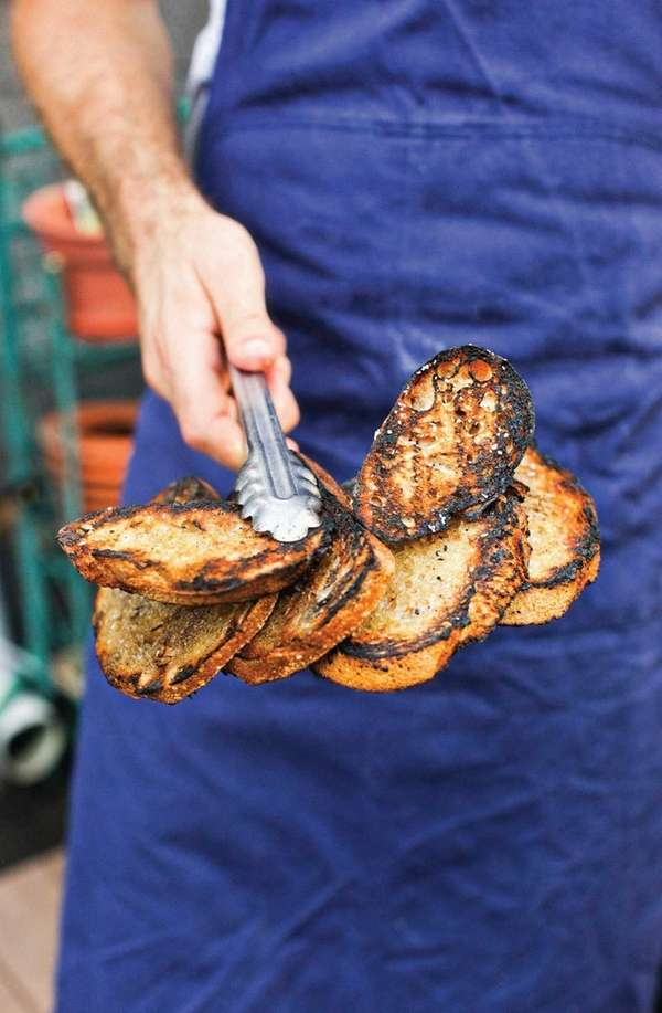 "Grilled crostini from ""Where There's Smoke"" by Barton"