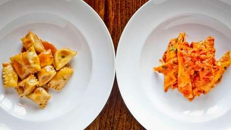 Try two pastas from Perla on the Bon