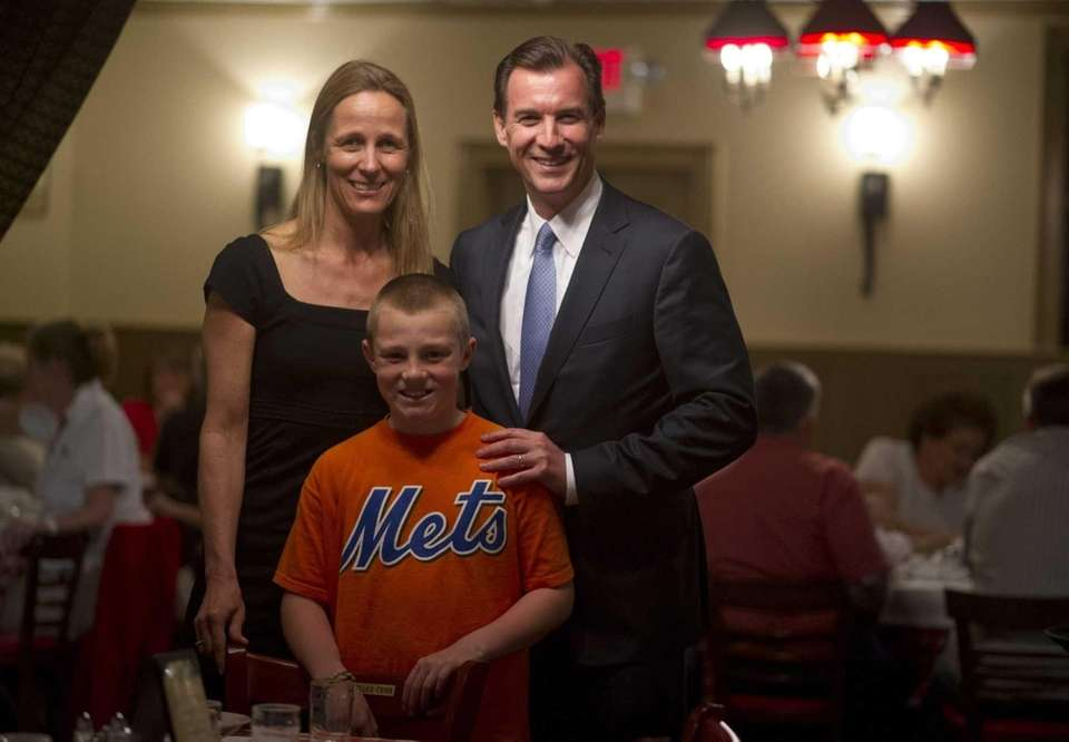 Helene and Tom Suozzi with their son Michael