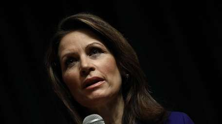 Rep. Michele Bachmann speaks to a Town Hall