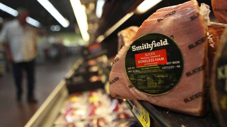 A Smithfield ham at a grocery store in