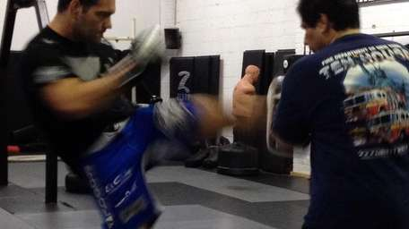 Chris Weidman at Ray Longo MMA during