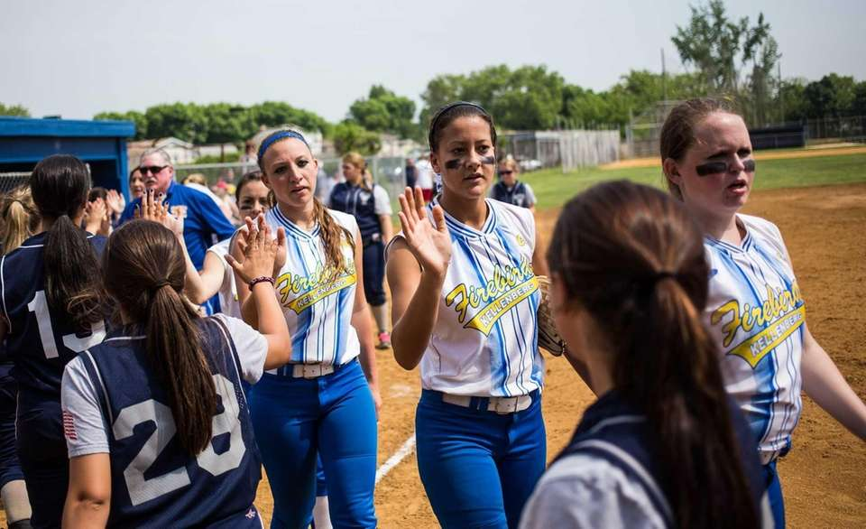 Kellenberg is congratulated by St. Joseph by the
