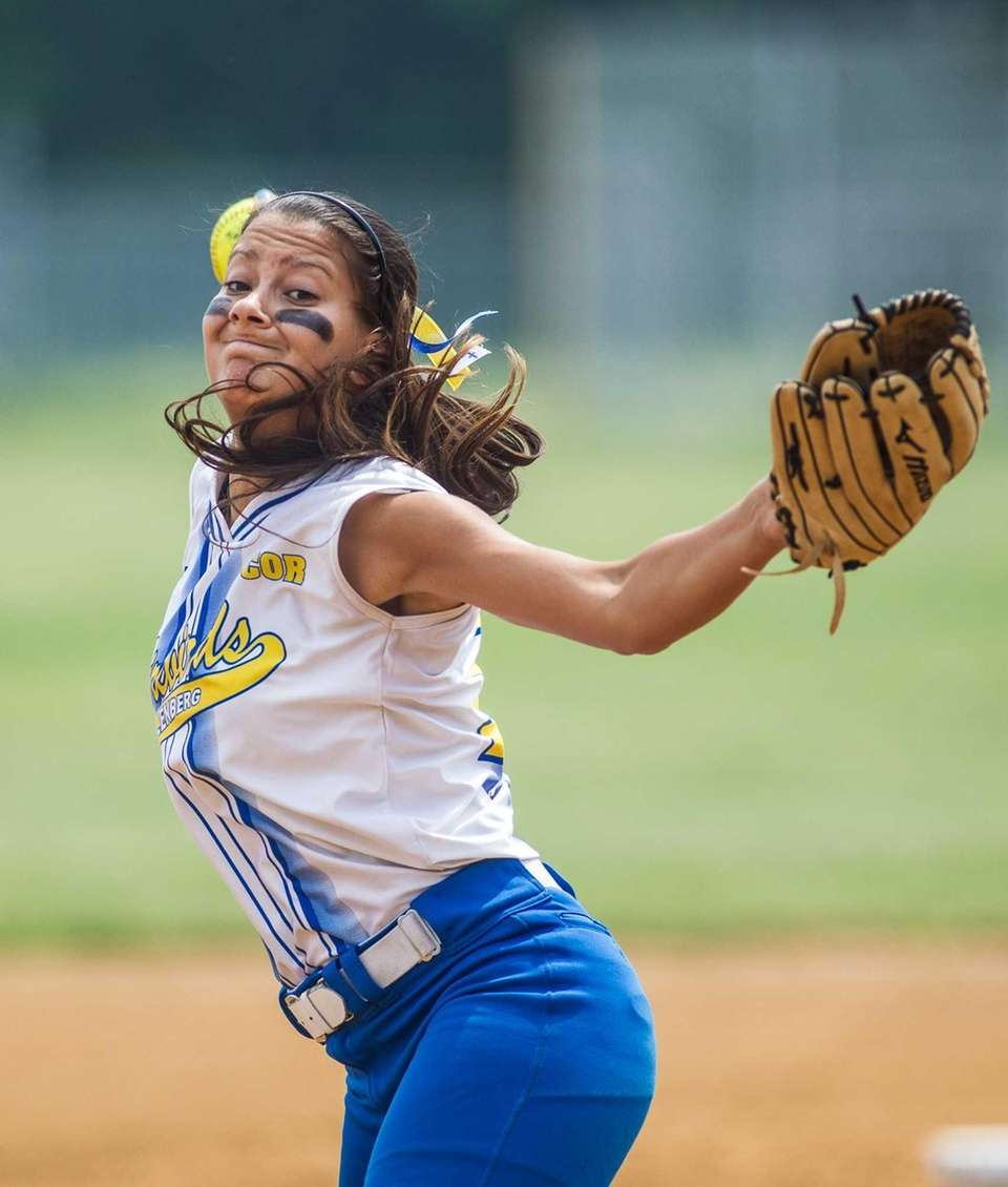 Kellenberg's Sabrina DeAngelis pitches against St. Joseph by