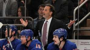 John Tortorella reacts to a penalty call against