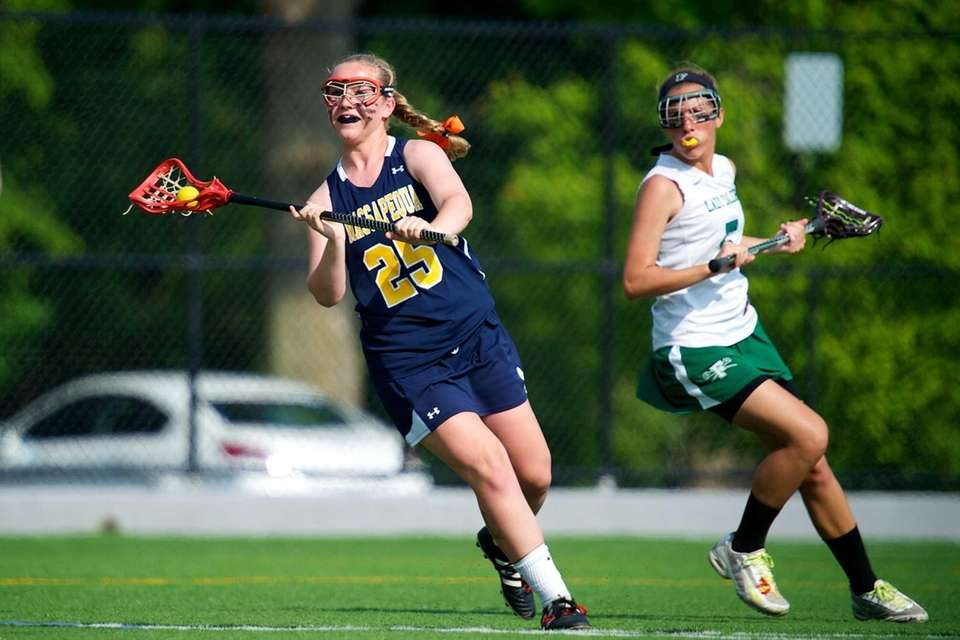 Massapequa defender Katie Bauer looks for an open
