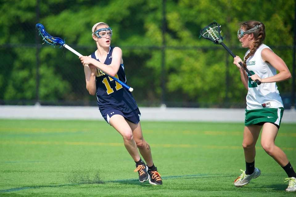 Massapequa midfielder Madeline Lee looks for an open